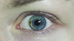 Concept video. Contact lenses with chip inside Stock Footage