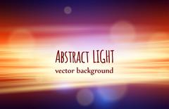 Beautiful nature abstract background with bokeh and lights Stock Illustration