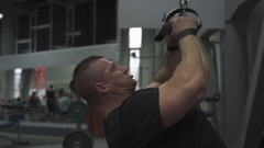Weight lifter training at gym Stock Footage