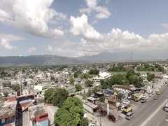 4k Flying towards Mountains in Jamaica Aerial-RAW Colors Stock Footage