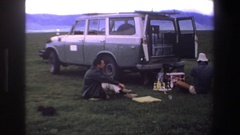 1969: couple went for a picnic SOUTH AFRICA Stock Footage