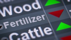 Fertilizer index of stock market. Down. Looping. Stock Footage