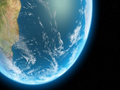 The Southern Hemisphere of Planet Earth in a 24 hour period Stock Footage