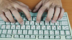 Male hands or men office worker typing on the keyboard, copies and pastes. Stock Footage