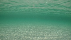 Beautiful tranquil underwater sea with reflections. Stock Footage