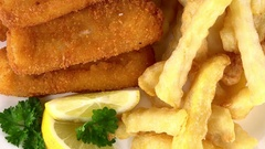 Fish Fingers (rotating; not loopanle; 4K) Stock Footage
