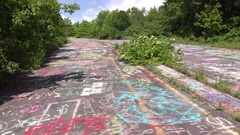 Empty streets in abandoned town of Centralia Pennsylvania 4k Stock Footage