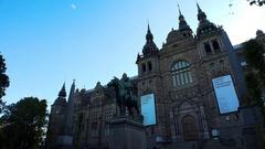 Nordiska museet. Museum of Ethnography in Stockholm. Sweden. 4K. Stock Footage