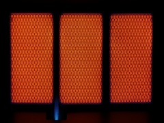 Fire off gas heater Stock Footage