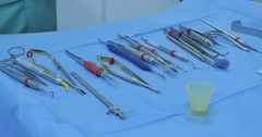 Sterile dental instruments Stock Footage