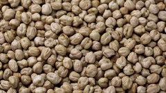 Rotating raw chickpea beans Stock Footage
