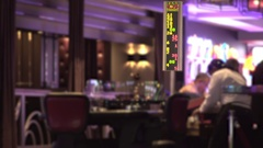 Roulette table at casino with focus on number board Stock Footage