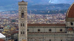 Beautiful views of Florence and Cathedral Santa Maria del Fiore, Florence, Italy Stock Footage
