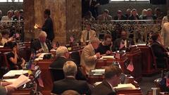 Senators Working at Louisiana State Senate Chamber in Baton Rouge Stock Footage