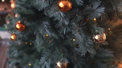 Cristmas tree with lights background Stock Footage