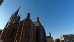 Riddarholmen Church in Stockholm. Sweden. 4K. Stock Footage