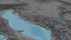 Revolution around Dinaric Alps mountain range - masks. Elevation map Stock Footage