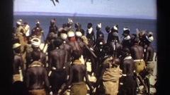 1969: a group of people in traditional garb dancing SUDAN Stock Footage