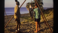 1969: african native posing for catch SUDAN Stock Footage