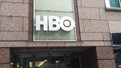 Establishing DX shot of HBO Corporate Headquarters in Manhattan. Stock Footage