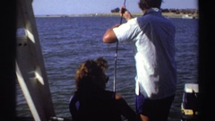 1969: people struggling to hold a wiggly pole SUDAN Stock Footage