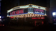 The marquee of The Ed Sullivan Theater which is the current home of the American Stock Footage