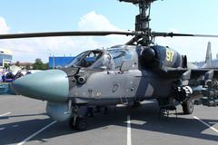 Attack helicopter Ka-52 Alligator Stock Photos