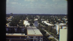 1975: the lazy river running through town FLORIDA Stock Footage