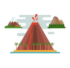 Volcano vector illustration Piirros
