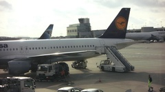 Frankfurt Airport Technician working Stock Footage