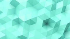 Turquoise low poly texture Stock Footage