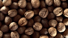 Walnuts in rotation. Stock Footage