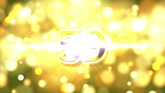Golden Countdown 60 seconds Stock Footage
