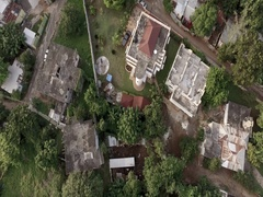 Aerial of Neighborhood in Jamaica-RAW COLORS Stock Footage