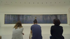 PARIS, FRANCE -  Monet Water Lilies at Orangerie  Stock Footage