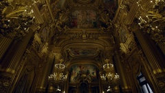 PARIS, FRANCE - SEPTEMBER 19, 2016 Opera Garnier foyer 3 Stock Footage