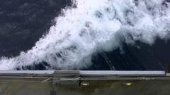 Belgian navy vessel sailing Stock Footage