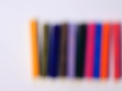 Focus on Colorful chalk pastels Stock Footage