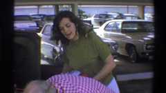 1973: spending the day out shopping and having a good time NEW YORK Stock Footage
