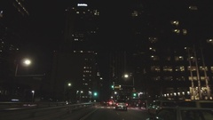 Driving Down Grand Avenue In Downtown Los Angeles Stock Footage
