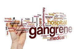 Gangrene word cloud concept Stock Photos
