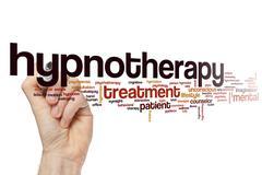 Hypnotherapy word cloud Stock Photos