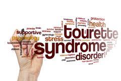 Tourette syndrome word cloud concept Stock Photos