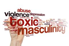 Toxic masculinity word cloud Stock Photos