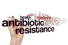 Antibiotic resistance word cloud Stock Photos