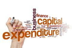 Capital expenditure word cloud Stock Photos
