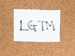 The series of a message on the cork board, LGTM Stock Photos
