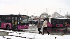 City people at main bus hub, Istanbul Stock Footage