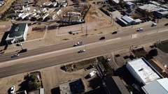 2016: aerial shot of suburbs and a highway. COLORADO Stock Footage