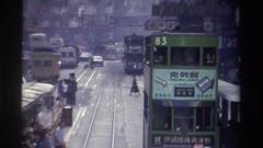 1982: street view of an asian city HONG KONG Stock Footage